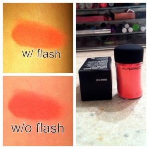 Mac Pigment in Neo Orange
