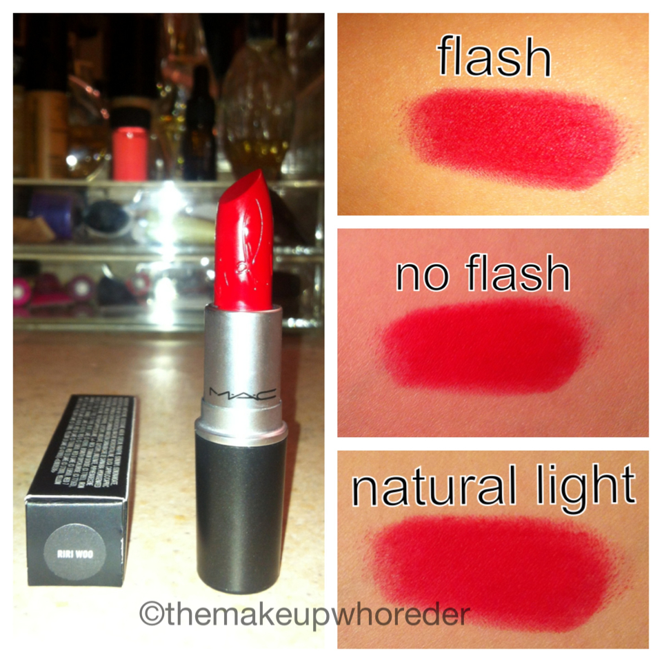 Swatch: MAC Lipstick in Riri Woo – Rihanna Hearts MAC ...