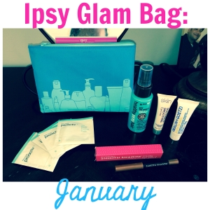 Ipsy Glam Bag January Makeup Review