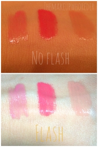 Swatches Lipstick in Rose Melody Coral Encore Nude Ballet