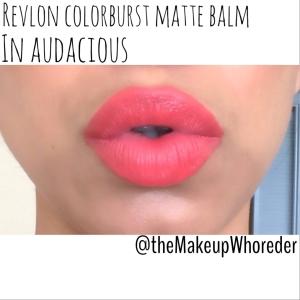 swatch revlon colorburst matte balm in audacious