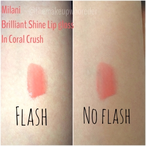 Milani Brilliant Shine Lip Gloss in Coral Crush