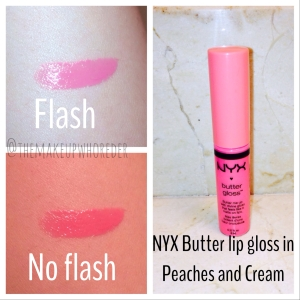 NYX Butter Gloss in Peaches and Cream