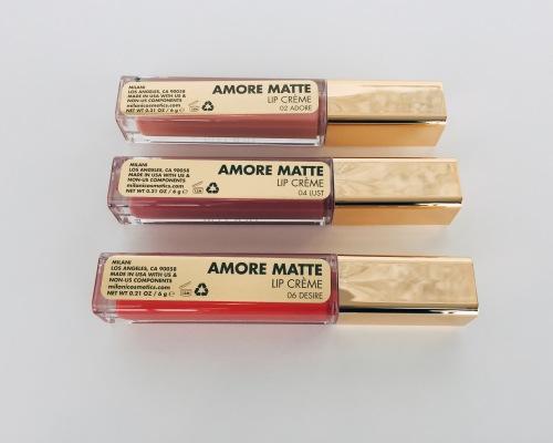 Milani Amore Matte Lip Cremes in Adore Lust Desire